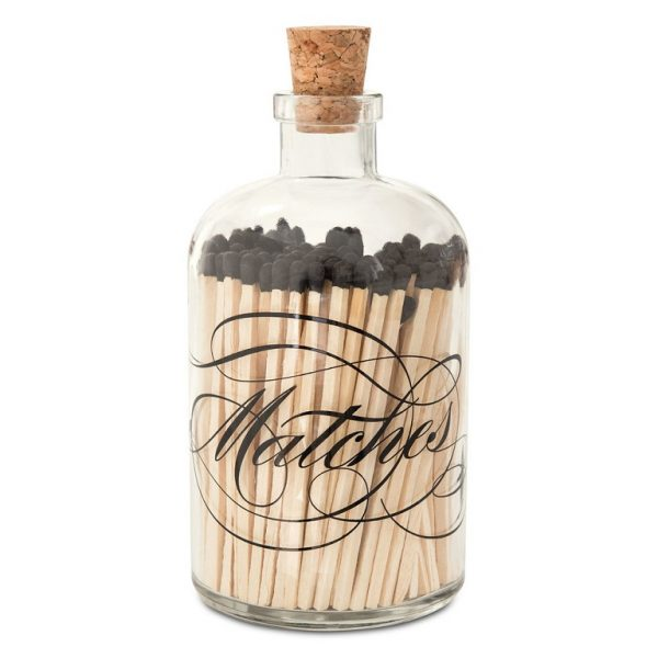 Skeem Design Apothecary Calligraphy Match Bottle Large
