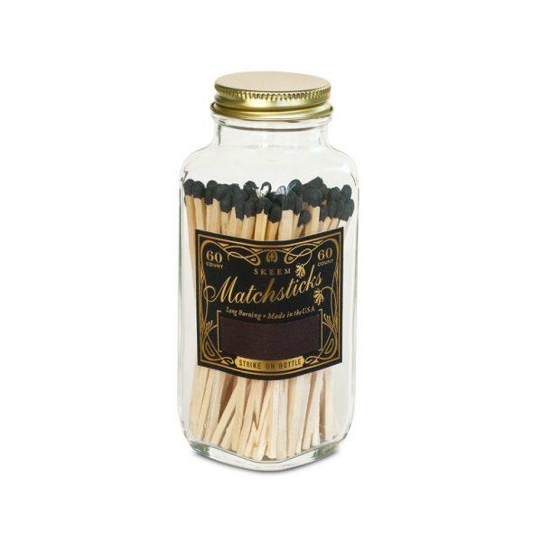 Skeem Design Vintage Match Bottle Large Black