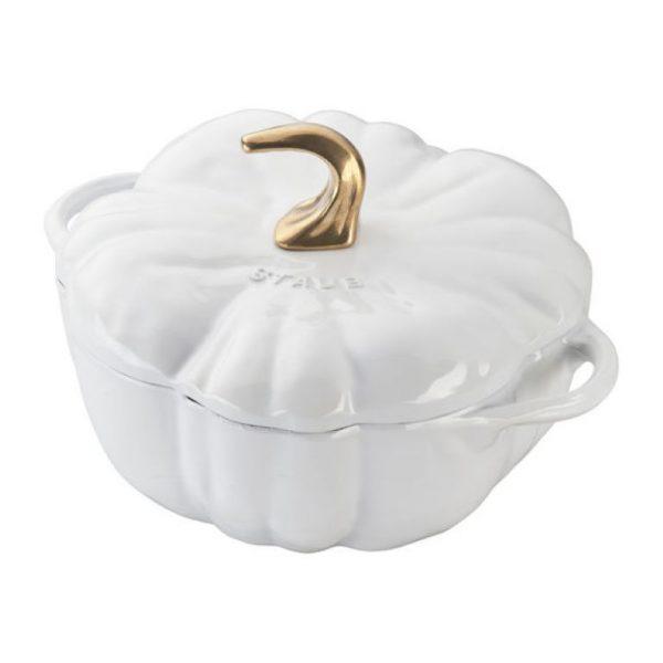 Staub Pumpkin Cocotte White