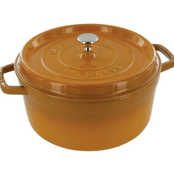 Staub Round Cocotte Mustard